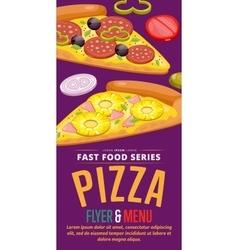 Pizza sale flyer vector image vector image