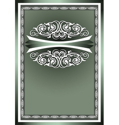 White frame ornaments vector image vector image