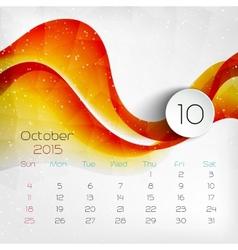 2015 Calendar October vector