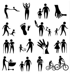 Activity of father and child vector