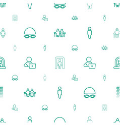 adult icons pattern seamless white background vector image