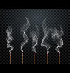Aroma sticks smoke background vector