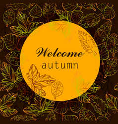 Autumn color stylize template vector
