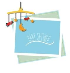 Baby shower celebration vector image