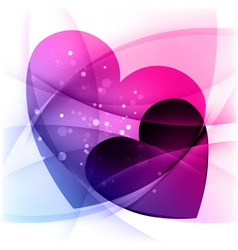 Background with two hearts Valentines day vector image