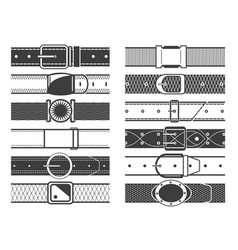 Belts with buckles vector