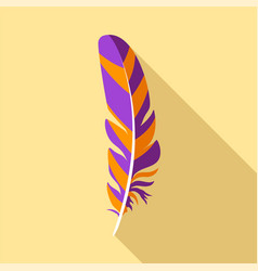 bird feather icon flat style vector image