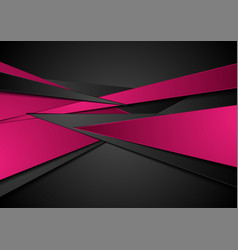 Black and pink abstract corporate background vector