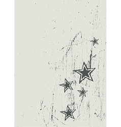 blue red star on wooden texture vector image