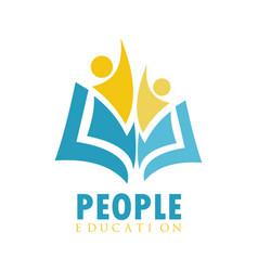Book education people logo vector