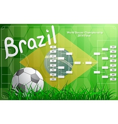 Brazil FIFA Championship tournament chart vector
