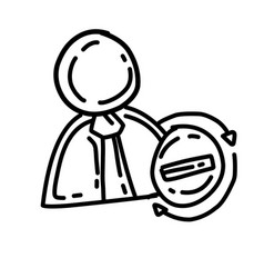 business busy hand drawn icon design outline vector image