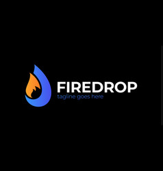 Business emblem drop water flame icon flame vector