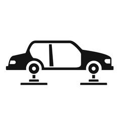 car assembly icon simple style vector image