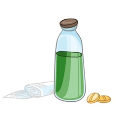 Cartoon home medicine pills vector