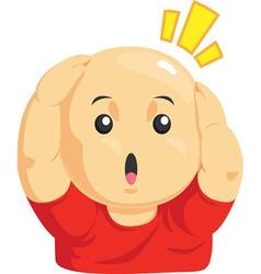 Cartoon of Funny Bald Kid vector image
