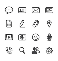 Chat Application Icons vector image