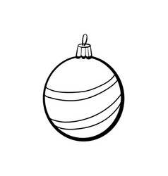 christmas ball coloring book vector image