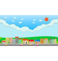 City scene at daytime vector