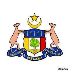 Coat arms malacca is a malaysian region vector