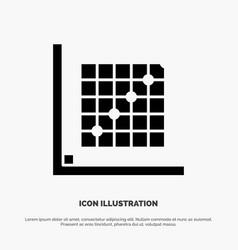 Color correction edit form grid solid glyph icon vector