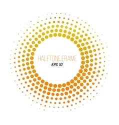 color halftone dotted frame Gradient banner vector image