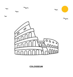colosseum monument world travel natural vector image