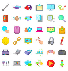 computer email icons set cartoon style vector image