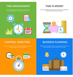 concept at time management theme vector image
