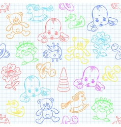 Cute baby wallpaper vector
