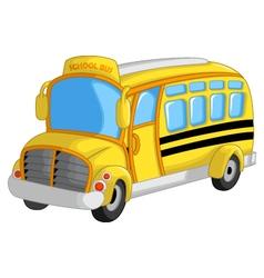 cute school bus cartoon vector image