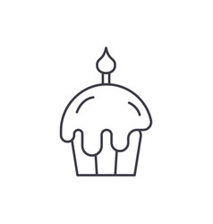 easter cake line icon concept easter cake vector image