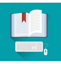 ELearning and technology education vector