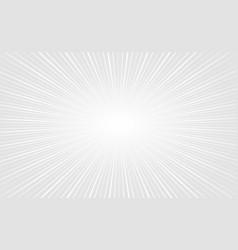 elegant white zoom rays empty background design vector image
