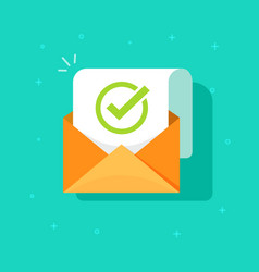 Email confirmation flat vector