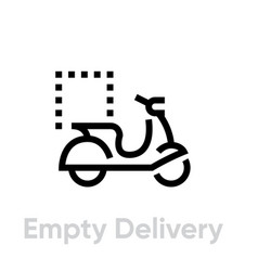 empty delivery bike icon editable line vector image