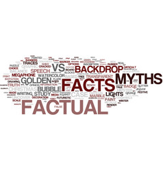 Factual word cloud concept vector