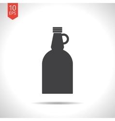 Flat apple cider vinegar bottle template vector