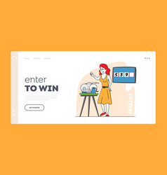 game chance tv show or fortune landing page vector image