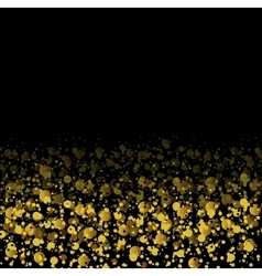 Golden glitter shiny particles abstract background vector image vector image