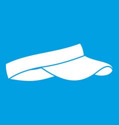 Golf visor icon white vector