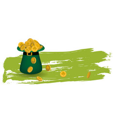 greeting card st patrick vector image