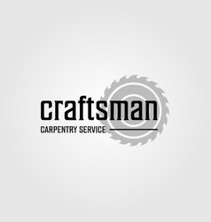 Grinding craftsman carpentry service vintage vector