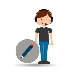 Guy operator help service write vector