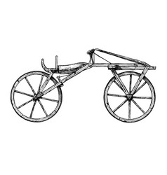 Hand drawn of bicycle vector