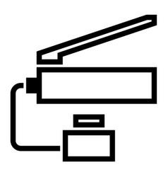 Handtoolslifting hydraulic pump jack vector
