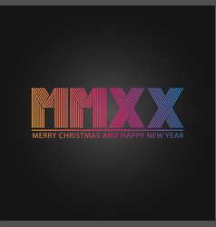 happy new year and merry christmas slogan number vector image
