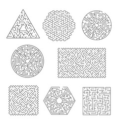 Labyrinth maze riddle with line patterns vector