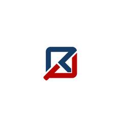Letter rp modern vector