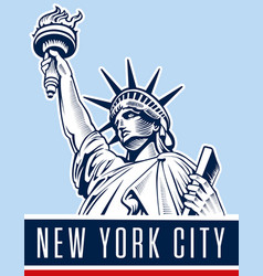 liberty statuenyc usa vector image